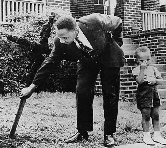 MLK and his son: 1960