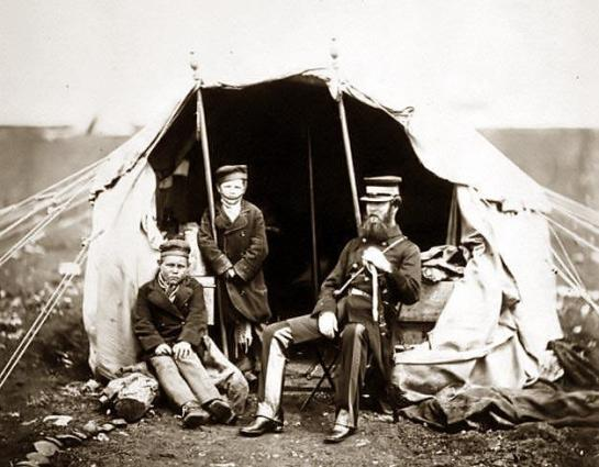 Colonel Brownrigg C.B. & the two Russian boys Alma ; Inkermann. It was made between 1855 and 1865