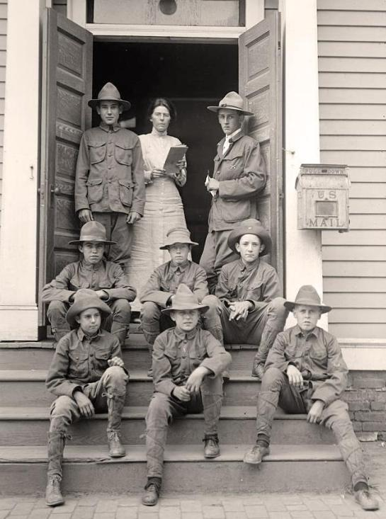 Group of Boy Scouts. It was taken in 1913