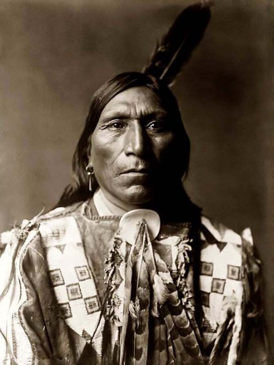 Little Hawk, a Brule Warrior. It was taken in 1907