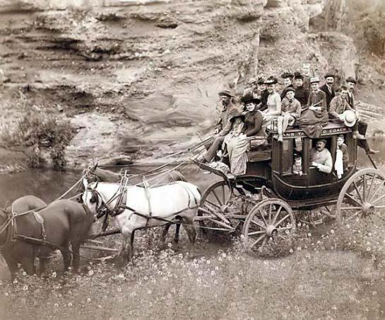 On a wagon west. 1884