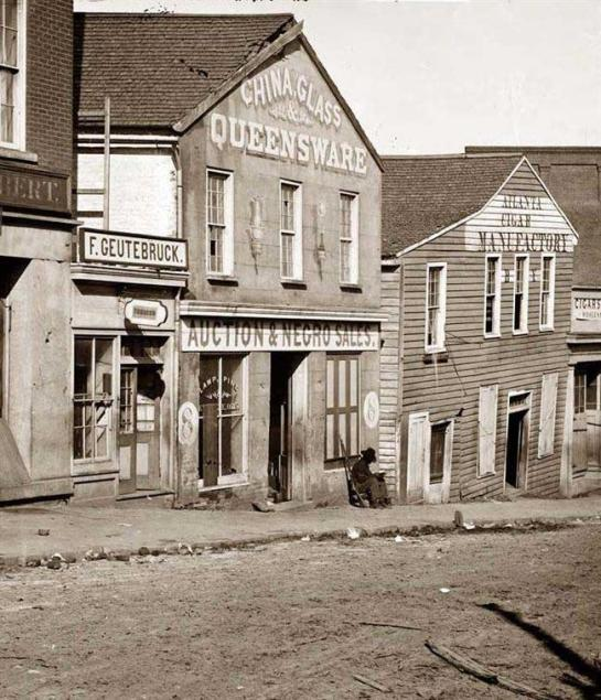 Auction & Negro Sales,  Whitehall Street. It was made in 1864