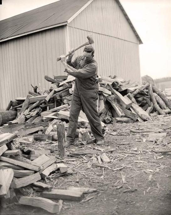 Chopping Wood. It was taken 1938 March 13