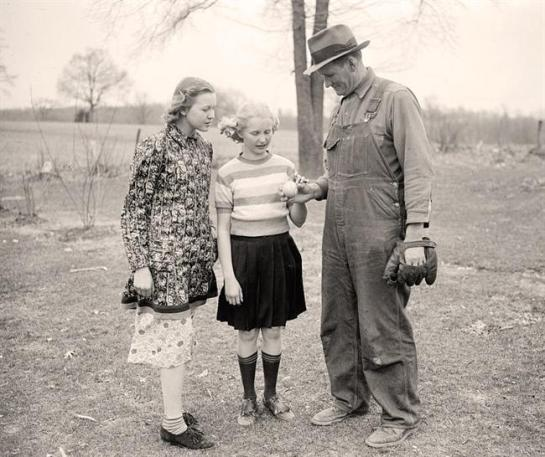 Farmer Playing with Children. It was created 1938