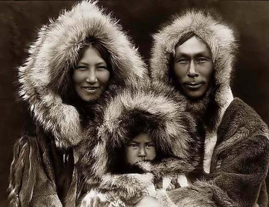 Eskimo Family Group. It was taken in 1929