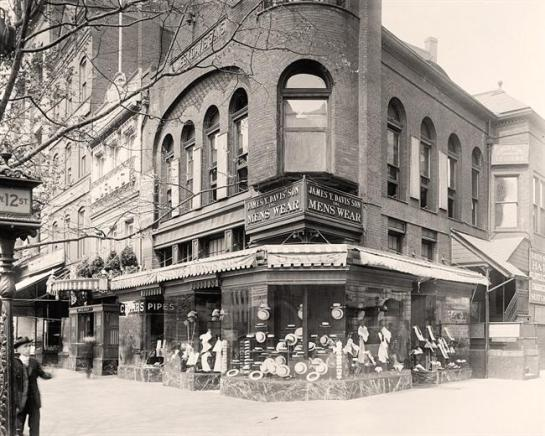 James Store, 12th Street, Washington DC. It was taken between 1905 and 1945
