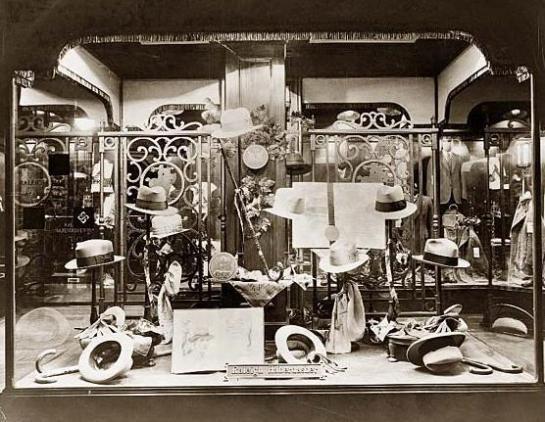 Raleigh Haberdasher show window, Washington, D.C. It was made in 1925.