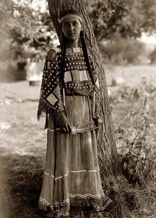 Sioux Indian Maiden. It was made in 1908