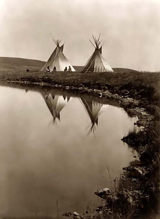 Tipis at the Waters Edge. It was made in 1910