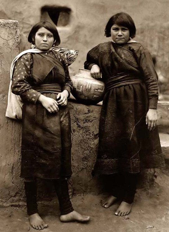 Two Zuni Indian Girls. It was made in 1903