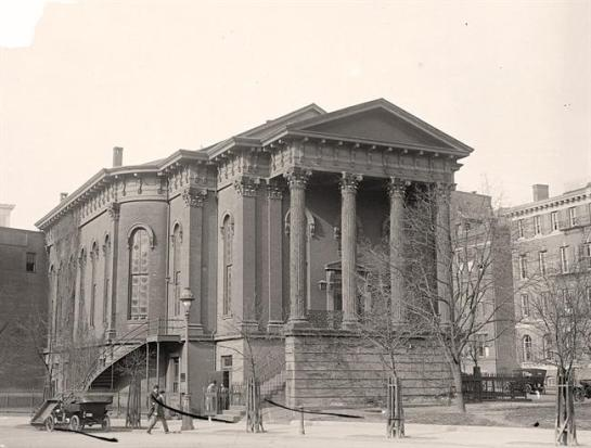 New York Avenue Presbyterian Church. It was made in 1913