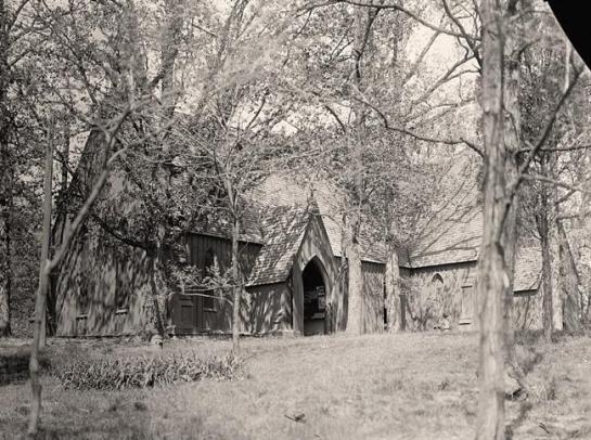 Saint Alban's Church. Original Wooden Church. It was made in 1912