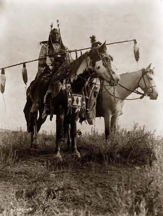 Crow Warriors On Horseback. It was taken in 1908