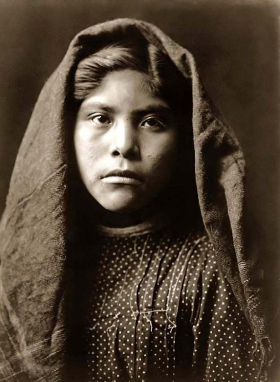 Pimas Indian School Girl. It was created in 1907