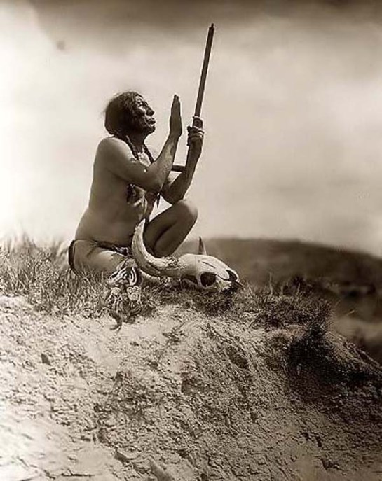 Slow Bull Praying to the Great Spirit. It was created in 1907
