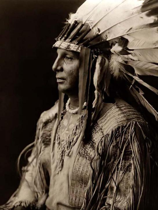 White Shield, an Indian Chief. It was made in 1908