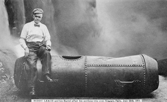 Bobby Leech, after the plunge over Niagara Falls - 1911