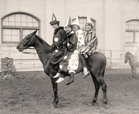 Clowns On a Horse. It was taken between 1915 and 1917