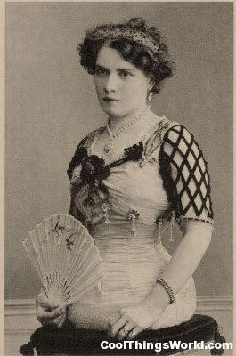 Mademoiselle Gabrielle was born in Switzerland in 1884. She was a perfect lady until you got to her torso, and then she just ended