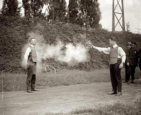 Testing of new bulletproof vests, 1923