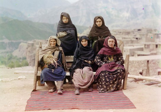 A group of women in Dagestan, ca. 1910