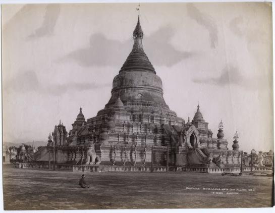 Maha Lawka Maya Zain Pagoda (Kuthodaw Pagoda) - Mandalay, Burma (Myanmar) c1880's
