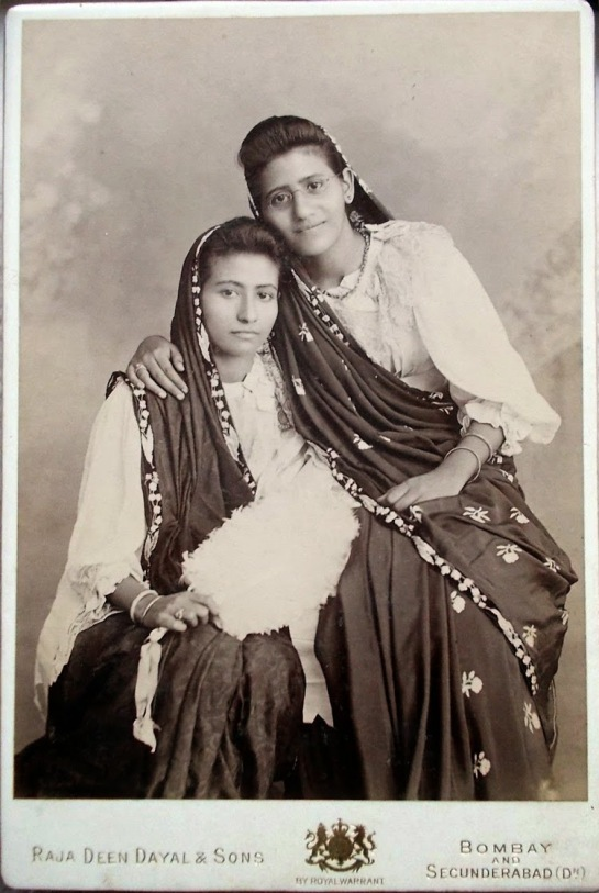 Portrait-of-Two-Women-by-Raja-Deen-Dayal-and-Sons---Date-Unknown