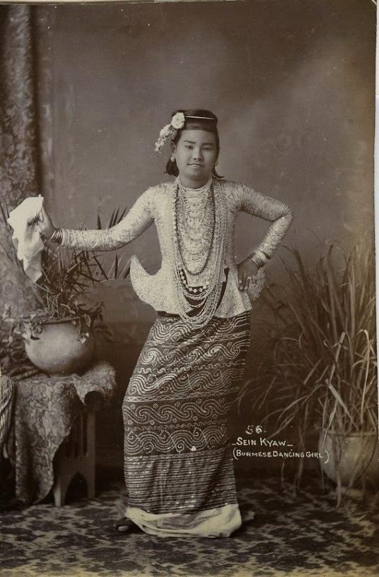 Sein Kyaw, Burmese Dancing Girl - Burma c1900's